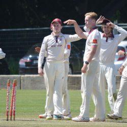 A wicket to Matt Keevers