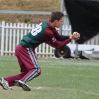 Caught and bowled by Nathan Doyle